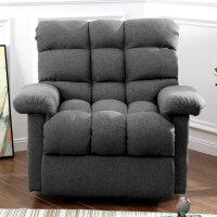 单人沙发椅子懒人老虎椅美式功能贵妃小沙发网红款午休折叠躺椅子 SF010 深灰色