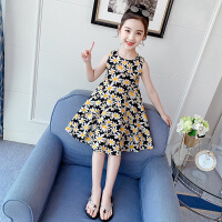 女童夏装连衣裙儿童小女孩公主裙中大童背心裙子
