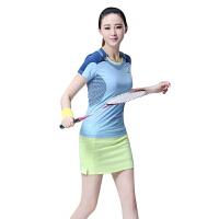 2018羽毛球服女款套装短袖运动透气速干运动服韩国训练网球服