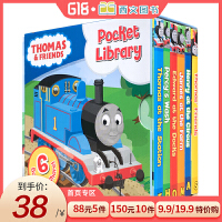 顺丰包邮 英文原版 Thomas and Friends Pocket Library 托马斯与朋友小小图书馆 6册手