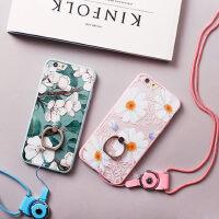 【包邮】hidog 苹果iPhone6手机壳文艺花朵6s plus保护套女软硅胶防摔新款