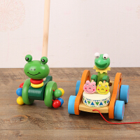 木质动物推推乐 婴幼儿童单杆学步手推车 宝宝玩具