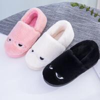 棉拖鞋女包跟冬季男士卡通情侣家居室内厚底可爱毛绒居家月子鞋
