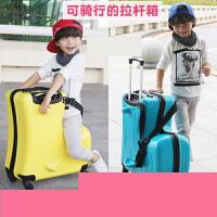 儿童行李箱可坐可骑拉杆箱小孩万向轮宝宝皮箱子卡通女旅行箱包男t9o
