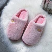 棉拖鞋女厚底韩版可爱居家室内防滑高跟可爱家居保暖毛毛