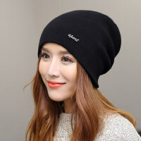 韩国休闲百搭针织帽月子帽帽子女加厚保暖毛线帽韩版潮