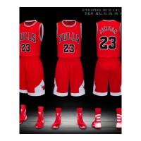 公牛队23号篮球服套装库里詹姆斯球衣儿童篮球衣队服