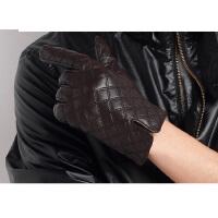 手套保暖时尚皮草情侣款男士韩版小羊皮手套冬季