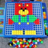 儿童拼图玩具拼插积木早教益智宝宝拼图玩具3-4-5-6周岁塑料拼装7