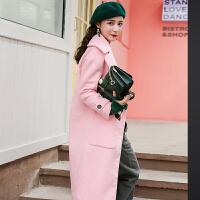 羊毛大衣女装中长款2018冬装宽松韩版矮个子学生潮反季毛呢子外套
