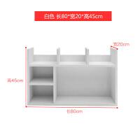 创意书架简易桌上置物架学生用简约现代宿舍小书柜办公收纳架 白色大号80cm长