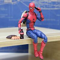 国产英雄归来shf钢铁蜘蛛侠手办模型玩具公仔 漫威人偶关节可动