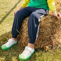 小猪班纳童装男童裤子2020夏季新款儿童休闲裤中大童九分裤束脚