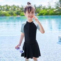 儿童泳衣女童夏款游泳衣女孩可爱宝宝中大童连体泳装