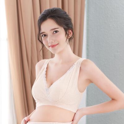 享受孕 条纹新款哺乳文胸背心无钢圈加宽肩带舒适孕妇内衣55022