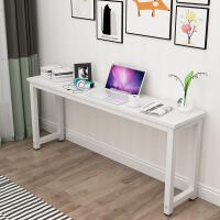 简易家用卧室实木台式电脑桌简约现代经济型长条办公小书桌省空间