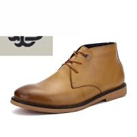 新款英伦马丁靴男靴子士马丁鞋工装工靴短靴沙漠靴青年擦色休闲皮靴