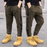 中大童运动裤男孩韩版潮儿童装男童秋冬装加绒休闲裤