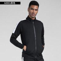 健身服男跑步外套肌肉速干衣长袖运动上衣训练卫衣服足球服