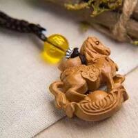 汽车钥匙挂件挂饰木质生肖马创意礼物平安吉祥饰品
