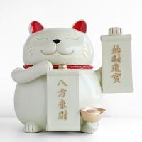 【新品特惠】简约现代猫装饰品摆件创意店铺开业乔迁礼物纸巾盒抽纸盒摆设