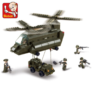 【当当自营】小鲁班陆军部队军事系列儿童益智拼装积木玩具 运输飞机M38-B6600