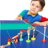 儿童拼装轨道带机关滚珠滑梯拼插积木 宝宝益智玩具动手拆装2-6岁