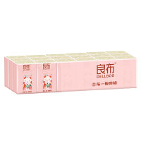 良布本色手帕纸3层8片18包竹浆本色餐巾纸小包纸巾便携式面巾纸实惠装