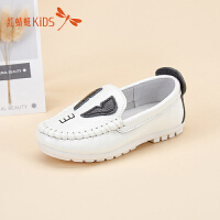 红蜻蜓童鞋春夏款时尚轻便软底豆豆儿童休闲鞋