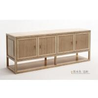 实木电视柜新中式客厅落地柜现代简约储物柜矮柜禅意装饰长柜 如图一200*45*70 整装