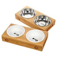 【支持�Y品卡】�碗�p碗�食盆�盆狗碗陶瓷��Z碗��盆水碗�碗架餐桌�咪用品 t1z