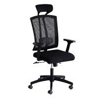 电脑椅家用舒适人体工学电竞椅书房椅会议椅可躺靠背椅转椅办公椅 黑色尼龙-活动扶手-可调节腰托款 舒适海绵头枕 尼龙脚