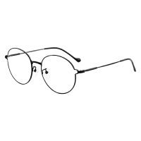 防辐射眼镜男女防蓝光电脑镜护眼平光镜复古合金圆框近视眼镜框架