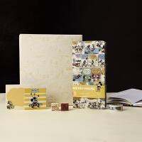 kinbor×迪士尼 效率周计划套装礼盒week便携本随身笔记本子 米奇复古漫画(周计划+便签本+刺绣贴+印章+胶带)