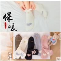 毛巾袜女珊瑚绒冬季保暖新款加厚冬天立体袜可爱中筒袜加绒睡眠袜