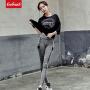 【春暖特惠价】Coolmuch女士宽松舒适透气中袖T恤长裤运动休闲两件套RE18004T2