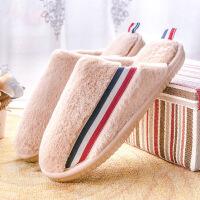 冬季卡通棉拖鞋女情侣居家防滑包跟厚底毛毛拖鞋男