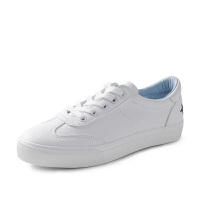 文艺小白鞋女韩版百搭皮面运动鞋女白色平底板鞋