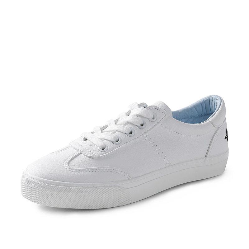 文艺小白鞋女韩版百搭皮面运动鞋女白色平底板鞋 品质保证 售后无忧 支持货到付款