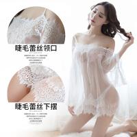 性感蕾丝情趣内衣服透视装女用品 套装紧身三点式开档制服小胸