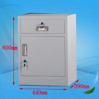 加厚文件柜矮柜带锁抽屉柜办公柜不锈钢铁皮床头柜带锁储物