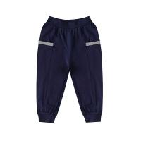 【2件5.5折到手价:69】小猪班纳童装男童裤子2020夏季新款儿童七分裤中大童纯棉束脚裤子