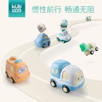 可优比宝宝玩具车男孩汽车警车玩具惯性工程车小汽车儿童玩具汽车