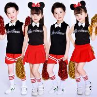 六一儿童啦啦操表演服装幼儿园啦啦队演出服女童舞蹈服男童表演服
