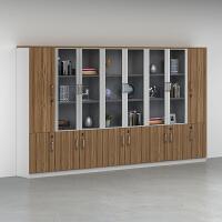 文件柜木质办公柜家具资料档案柜带锁小柜子板式玻璃书柜架储物柜 40mm