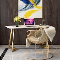 【满减优惠】大理石书桌北欧ins简约现代家用小户型卧室书桌轻奢电脑桌办公桌