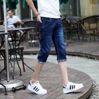 夏季薄款七分牛仔裤男士韩版修身弹力五分小脚裤潮男裤7分短裤子
