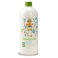 美国BabyGanics甘尼克宝贝 天然奶瓶餐具清洁液 无香补充装 1L