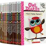 送音频 英文原版小说入门级 学乐大树系列桥梁书 Owl Diaries 猫头鹰日记11本套装 Scholastic B