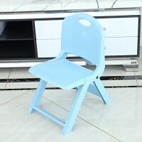加厚折叠凳子靠背塑料 便携式家用椅子户外创意小板凳椅ll 马卡龙 蓝色